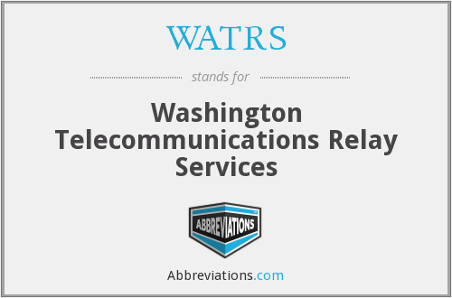 What does WATRS stand for?