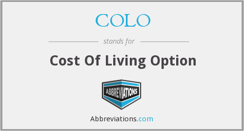 COLO - Cost Of Living Option