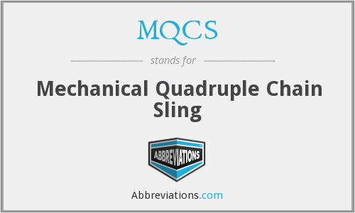 MQCS - Mechanical Quadruple Chain Sling