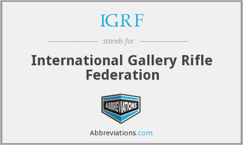 What does IGRF stand for?
