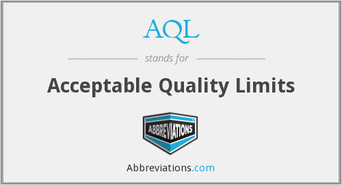 AQL - Acceptable Quality Limits