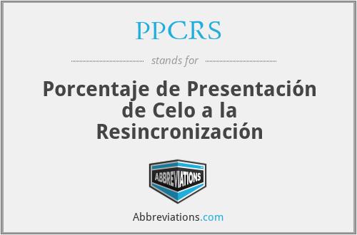 PPCRS - Porcentaje de Presentación de Celo a la Resincronización