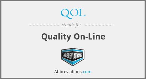 QOL - Quality On-Line