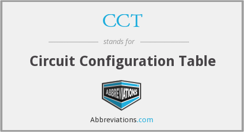 CCT - Circuit Configuration Table