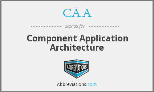 CAA - Component Application Architecture
