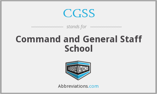 What does CGSS stand for?