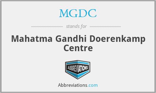 MGDC - Mahatma Gandhi Doerenkamp Centre