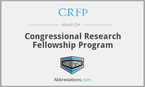 CRFP - Congressional Research Fellowship Program