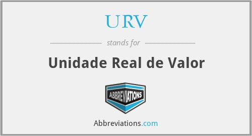 URV - Unidade Real de Valor