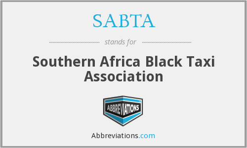 What does SABTA stand for?