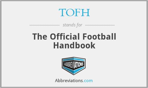 TOFH - The Official Football Handbook