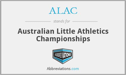 ALAC - Australian Little Athletics Championships