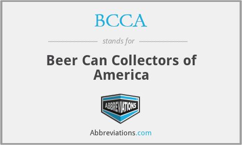 BCCA - Beer Can Collectors of America