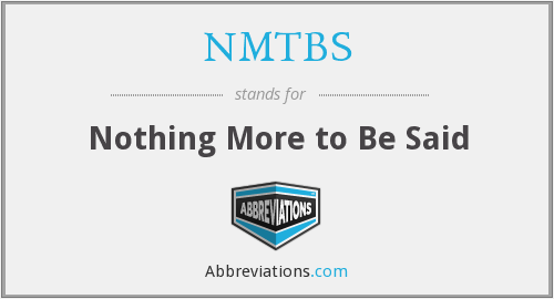 What does NMTBS stand for?