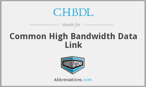 CHBDL - Common High Bandwidth Data Link