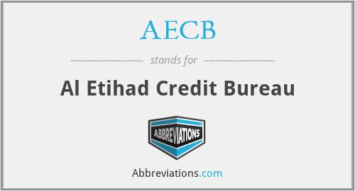 AECB - Al Etihad Credit Bureau