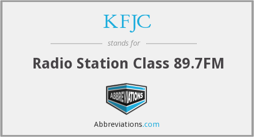 What does KFJC stand for?