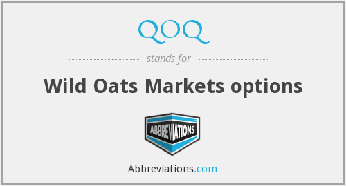 QOQ - Wild Oats Markets options