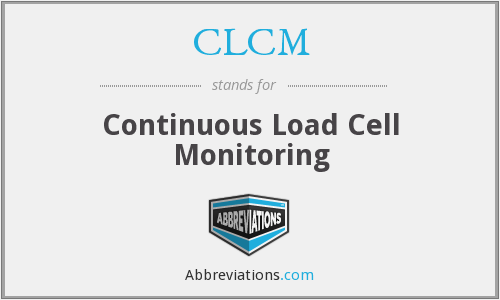 CLCM - Continuous Load Cell Monitoring