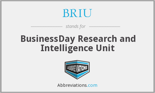 What does BRIU stand for?