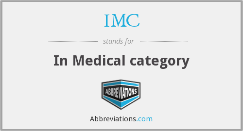 IMC - In Medical category
