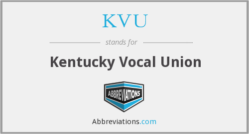What does KVU stand for?
