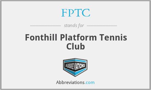 FPTC - Fonthill Platform Tennis Club