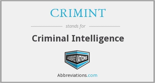 What does CRIMINT stand for?