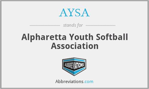 AYSA - Alpharetta Youth Softball Association