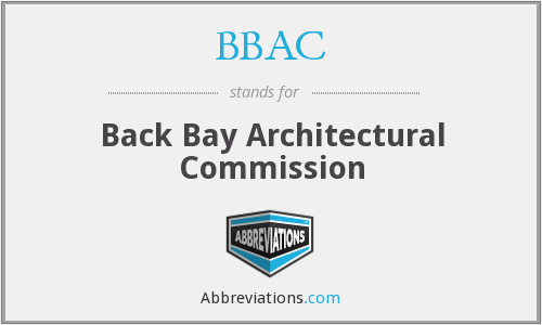 BBAC - Back Bay Architectural Commission