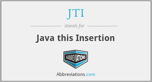 JTI - Java this Insertion