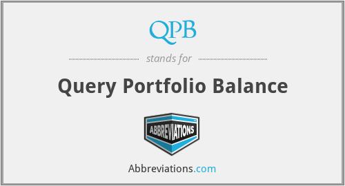 QPB - Query Portfolio Balance
