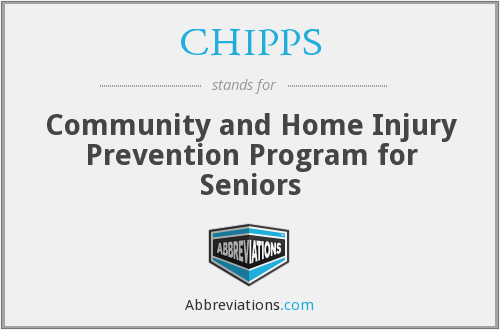 CHIPPS - Community and Home Injury Prevention Program for Seniors