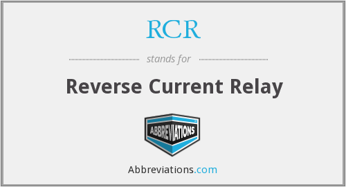 RCR - Reverse Current Relay