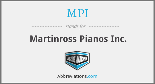 MPI - Martinross Pianos Inc.
