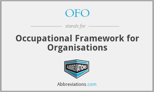 OFO - Occupational Framework for Organisations