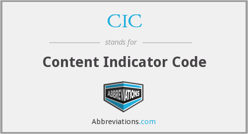 CIC - Content Indicator Code