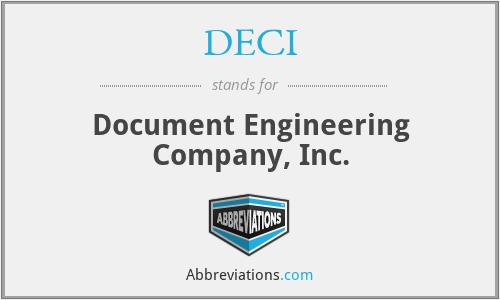 DECI - Document Engineering Company, Inc.