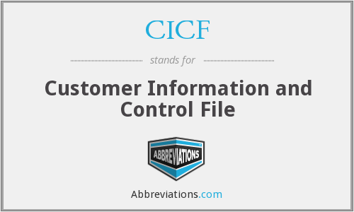 CICF - Customer Information and Control File