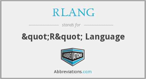 What does RLANG stand for?
