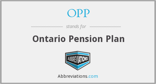 OPP - Ontario Pension Plan