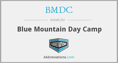 BMDC - Blue Mountain Day Camp