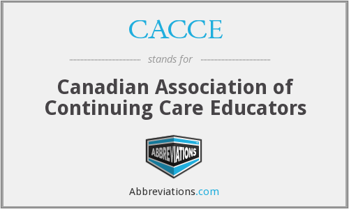 What does CACCE stand for?