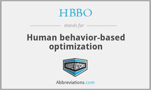 HBBO - Human behavior-based optimization