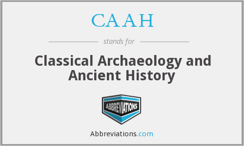 CAAH - Classical Archaeology and Ancient History