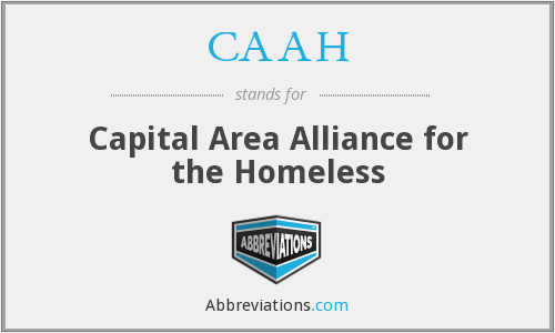 CAAH - Capital Area Alliance for the Homeless