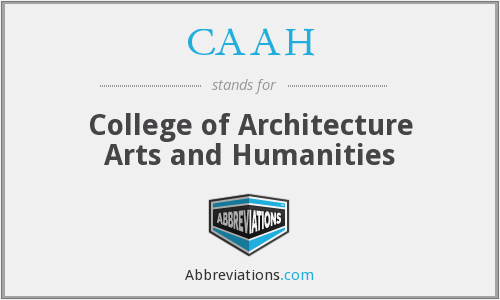 CAAH - College of Architecture Arts and Humanities