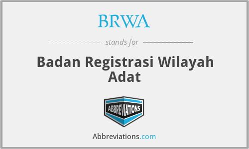 BRWA - Badan Registrasi Wilayah Adat