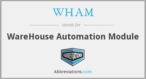 WHAM - WareHouse Automation Module