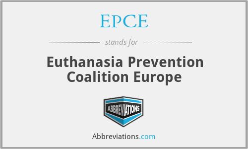 EPCE - Euthanasia Prevention Coalition Europe